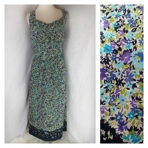 Sag harbor Garden Tea sheath dress floral Midi 18